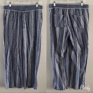 Old Navy Striped Chambray Linen Pants